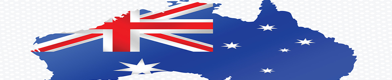 Australian national flag map.