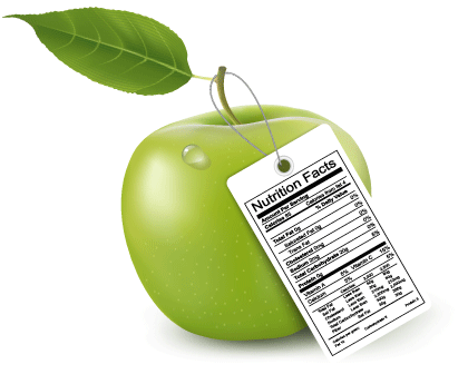 Nutrition facts about an apple.