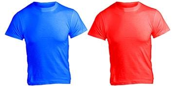 University checklist item: T-shirts.