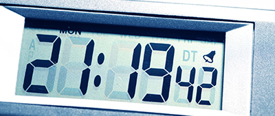 Digital alarm clock.