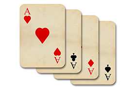 Playing cards for entertainment.